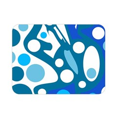 Blue and white decor Double Sided Flano Blanket (Mini)