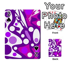 Purple and white decor Playing Cards 54 Designs
