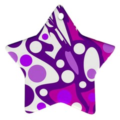 Purple and white decor Star Ornament (Two Sides)