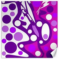 Purple and white decor Canvas 12  x 12