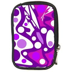 Purple and white decor Compact Camera Cases