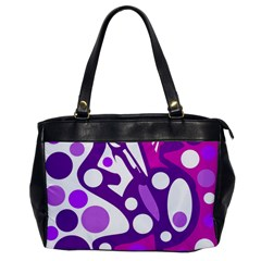 Purple and white decor Office Handbags