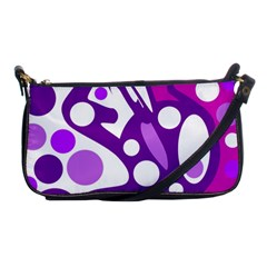 Purple and white decor Shoulder Clutch Bags