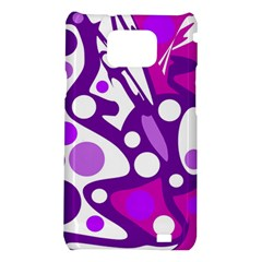 Purple and white decor Samsung Galaxy S2 i9100 Hardshell Case