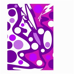 Purple and white decor Small Garden Flag (Two Sides)