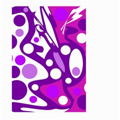 Purple and white decor Large Garden Flag (Two Sides)