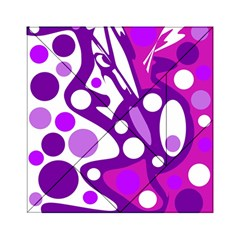 Purple and white decor Acrylic Tangram Puzzle (6  x 6 )