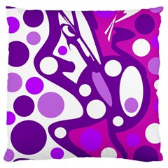 Purple and white decor Large Cushion Case (One Side)
