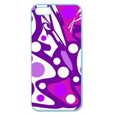 Purple and white decor Apple Seamless iPhone 5 Case (Color)