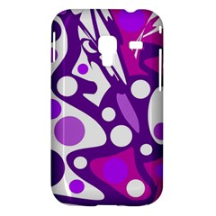 Purple and white decor Samsung Galaxy Ace Plus S7500 Hardshell Case