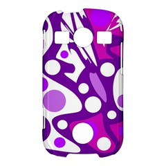 Purple and white decor Samsung Galaxy S7710 Xcover 2 Hardshell Case
