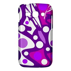 Purple and white decor Samsung Galaxy Ace 3 S7272 Hardshell Case