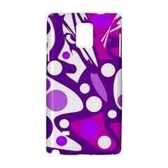 Purple and white decor Samsung Galaxy Note 4 Hardshell Case