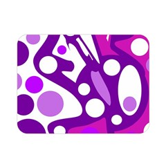 Purple and white decor Double Sided Flano Blanket (Mini)