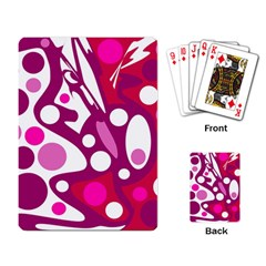 Magenta and white decor Playing Card