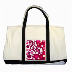 Magenta and white decor Two Tone Tote Bag