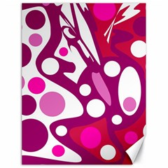 Magenta and white decor Canvas 18  x 24
