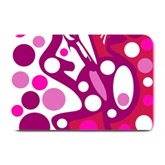Magenta and white decor Plate Mats