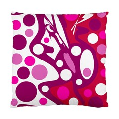 Magenta and white decor Standard Cushion Case (Two Sides)