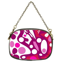 Magenta and white decor Chain Purses (Two Sides)