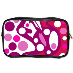 Magenta and white decor Toiletries Bags 2-Side
