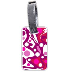 Magenta and white decor Luggage Tags (Two Sides)