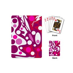 Magenta And White Decor Playing Cards (mini)
