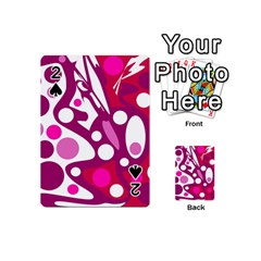 Magenta and white decor Playing Cards 54 (Mini)