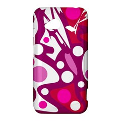 Magenta and white decor HTC Droid Incredible 4G LTE Hardshell Case