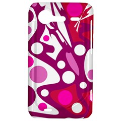 Magenta and white decor HTC Incredible S Hardshell Case
