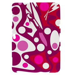 Magenta and white decor Samsung Galaxy Tab 8.9  P7300 Hardshell Case