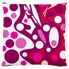 Magenta and white decor Large Cushion Case (Two Sides)