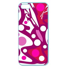 Magenta and white decor Apple Seamless iPhone 5 Case (Color)