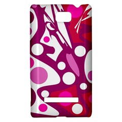 Magenta and white decor HTC 8S Hardshell Case