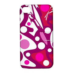 Magenta and white decor Apple iPhone 4/4S Hardshell Case with Stand