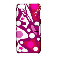 Magenta and white decor Apple iPod Touch 5 Hardshell Case with Stand