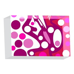 Magenta and white decor 4 x 6  Acrylic Photo Blocks