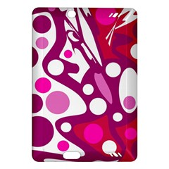 Magenta and white decor Amazon Kindle Fire HD (2013) Hardshell Case