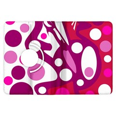 Magenta and white decor Kindle Fire HDX Flip 360 Case