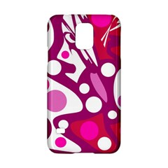 Magenta and white decor Samsung Galaxy S5 Hardshell Case