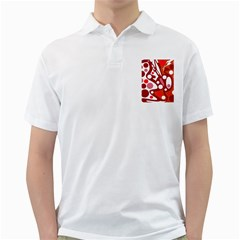 Red and white decor Golf Shirts