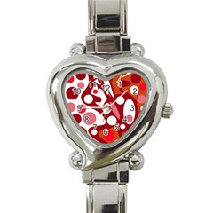 Red and white decor Heart Italian Charm Watch