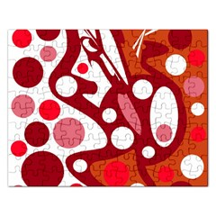 Red and white decor Rectangular Jigsaw Puzzl