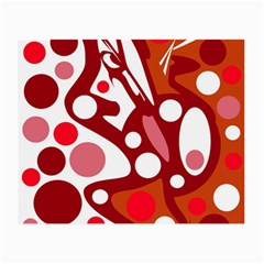 Red and white decor Small Glasses Cloth