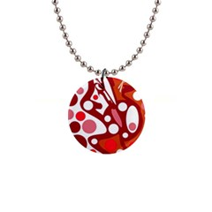 Red and white decor Button Necklaces