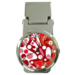 Red and white decor Money Clip Watches
