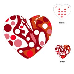 Red and white decor Playing Cards (Heart)