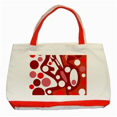 Red and white decor Classic Tote Bag (Red)