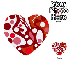 Red and white decor Multi-purpose Cards (Heart)
