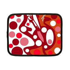 Red and white decor Netbook Case (Small)